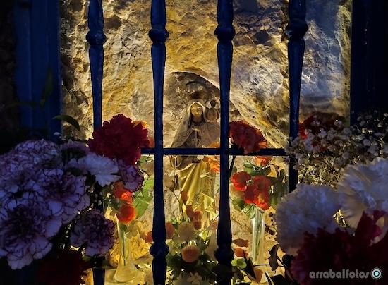 Virgen del Carmen en el Santuario de El Cantal en La Cala del Moral