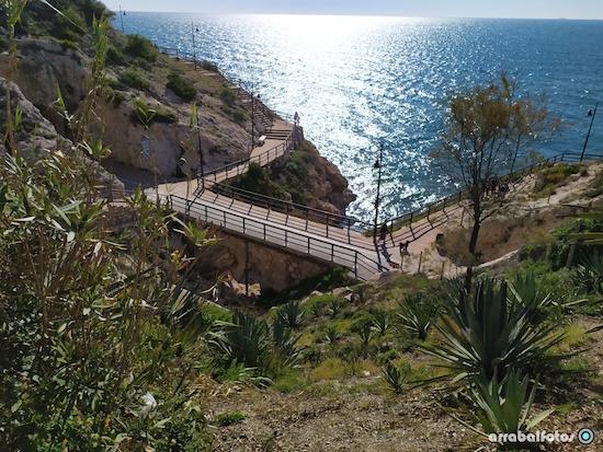 Puente que une dos tramos del túnel de La Cala del Moral