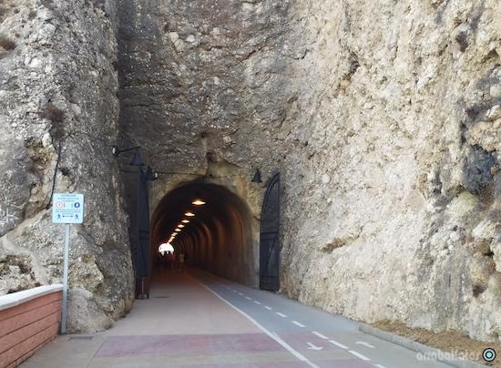 Entrada al Túnel por el Rincon de la Victoria