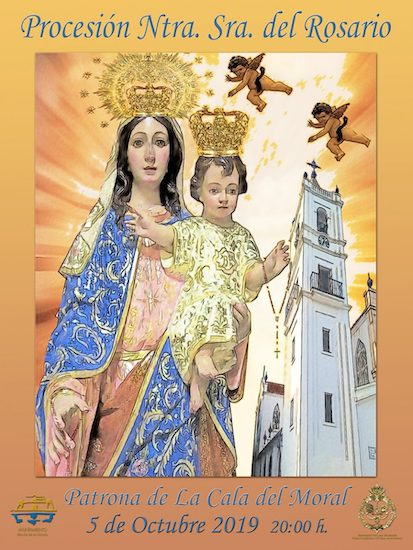 Cartel de la procesión de Nuestra Señora del Rosario de La Cala del Moral