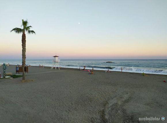 Atardecer de colores mágicos en la Playa de La Cala del Moral