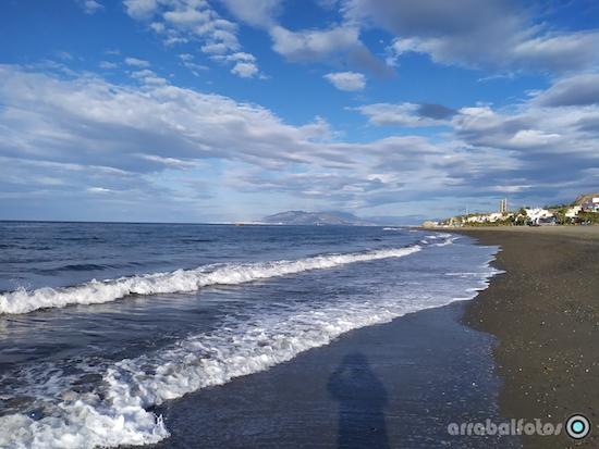 Playa de La Cala del Moral en Rincón de la Victoria, Málaga-Costa del Sol