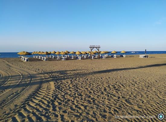 Maribel Playa, zona de Hamacas del Restaurante Maribel en La Cala del Moral