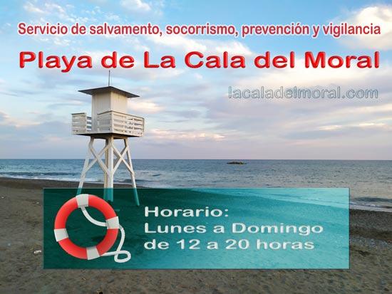 Servicio de socorrista de la Playa de La Cala del Moral