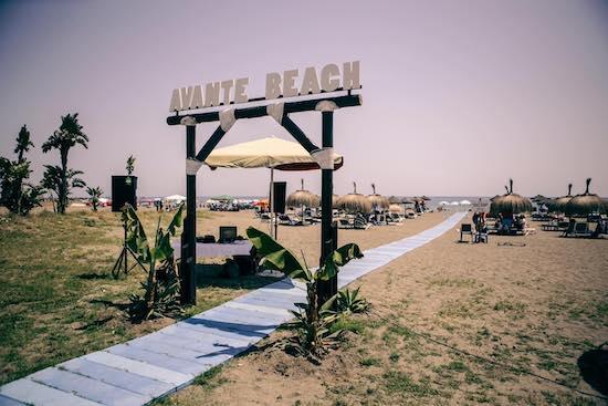 Avante Beach la zona de playa del Restaurante Avante Claro en La Cala del Moral